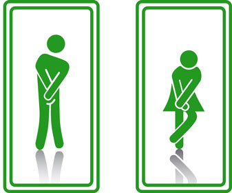 green-restroom-signs